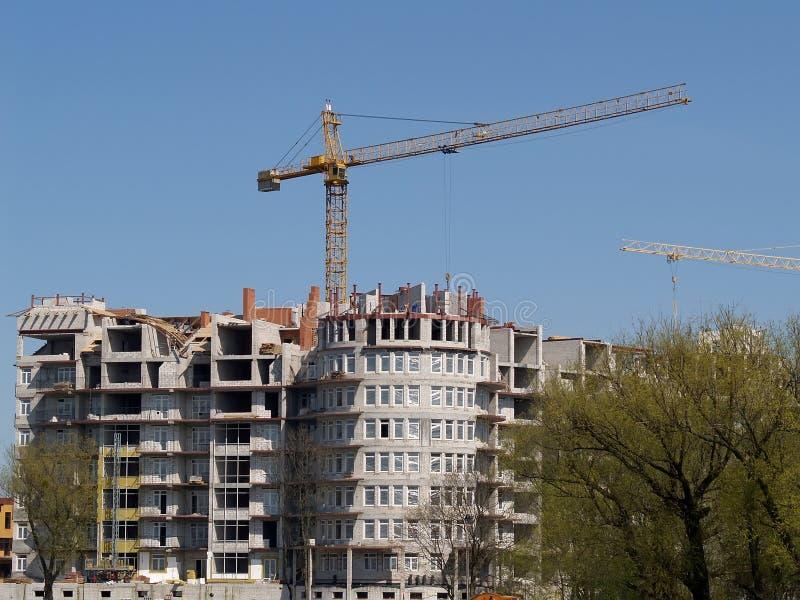 公寓的建筑 免版税库存图片