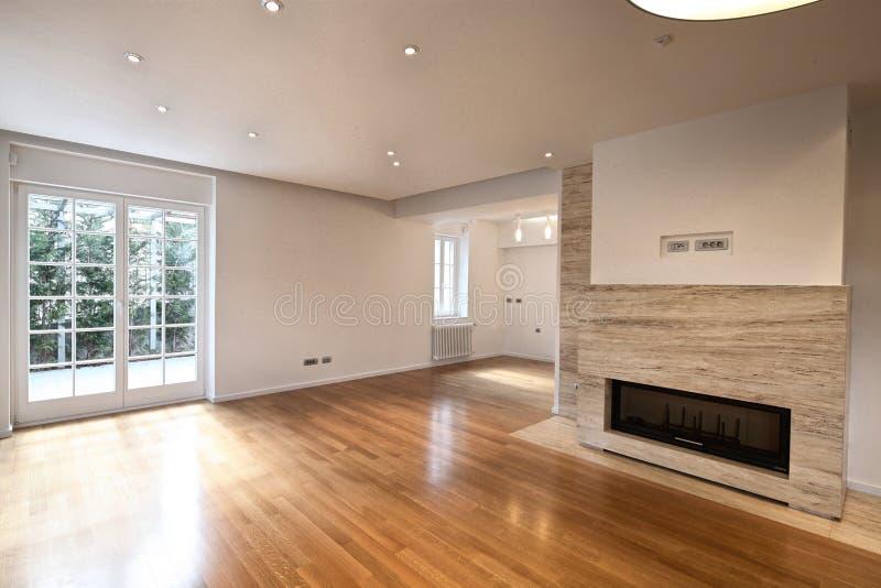 公寓空的内部 免版税库存图片