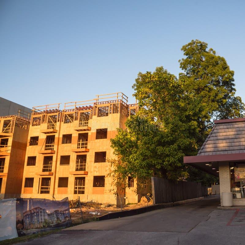 公寓站点建筑在汉茨维尔,得克萨斯,美国 免版税库存图片