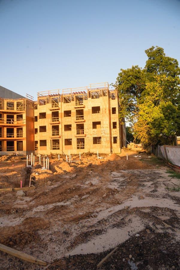 公寓站点建筑在汉茨维尔,得克萨斯,美国 库存照片
