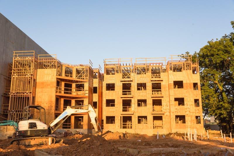 公寓站点建筑在汉茨维尔,得克萨斯,美国 库存图片