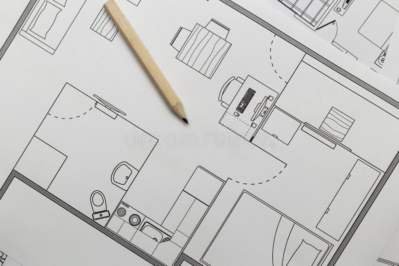 公寓计划 免版税图库摄影