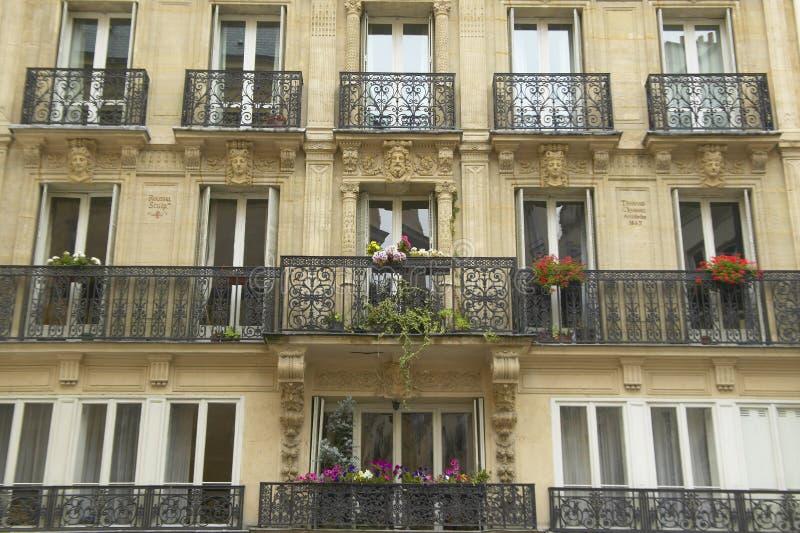 巴黎公寓,巴黎,法国阳台  库存图片