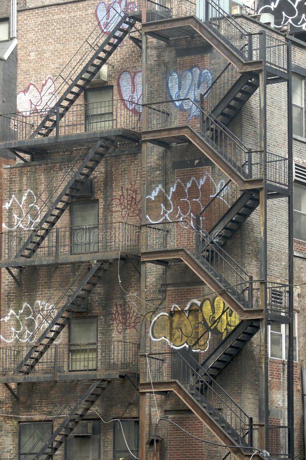 公寓firescapes 库存照片