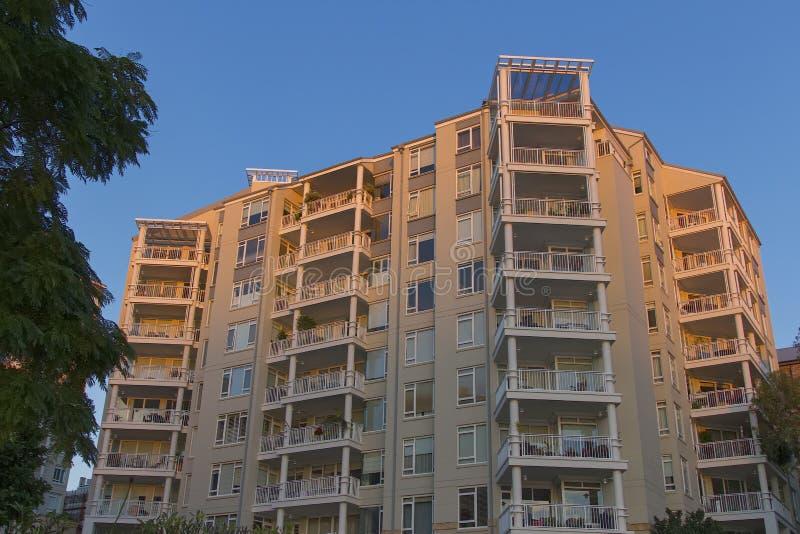 公寓Pyrmont在悉尼,澳大利亚 公寓楼 免版税库存图片