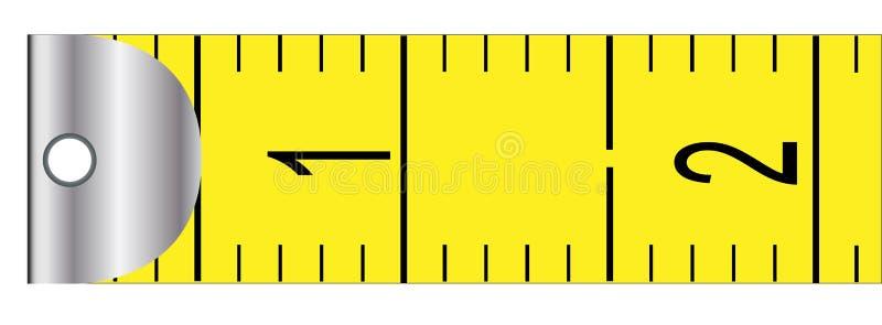 公尺卷尺 向量例证