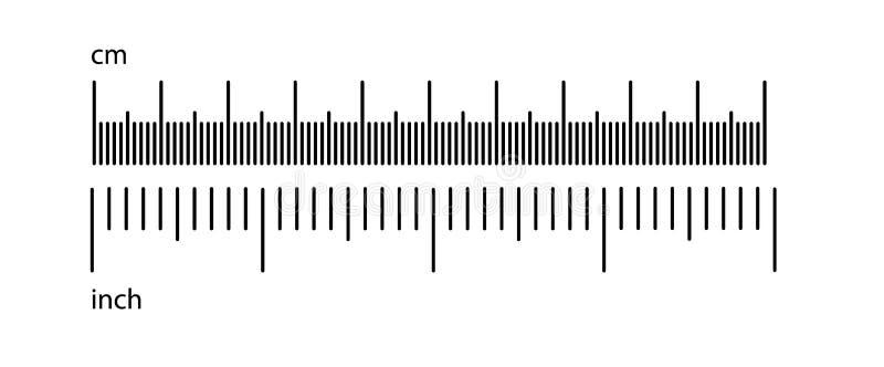 公尺皇家统治者 一个统治者的标度在英寸和厘米 与数字的刻度尺,统治者的标注 向量例证