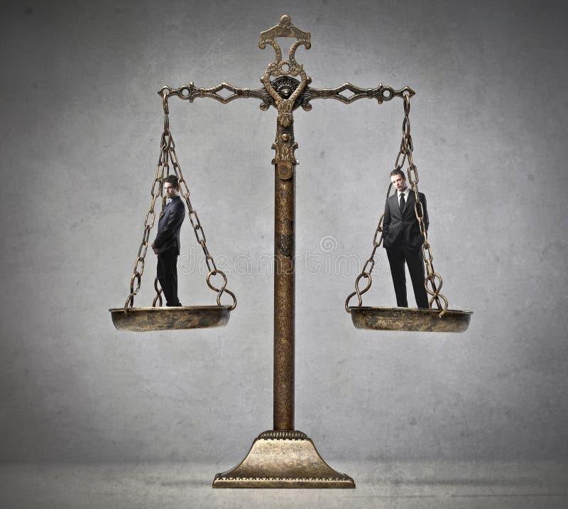 公平的判断 免版税图库摄影