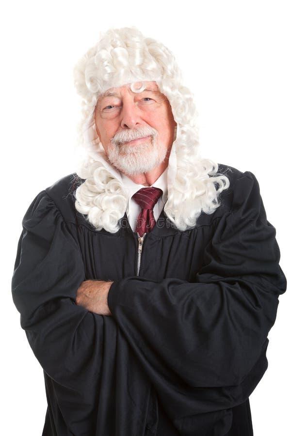 公平英国的法官-亲切和 免版税库存照片