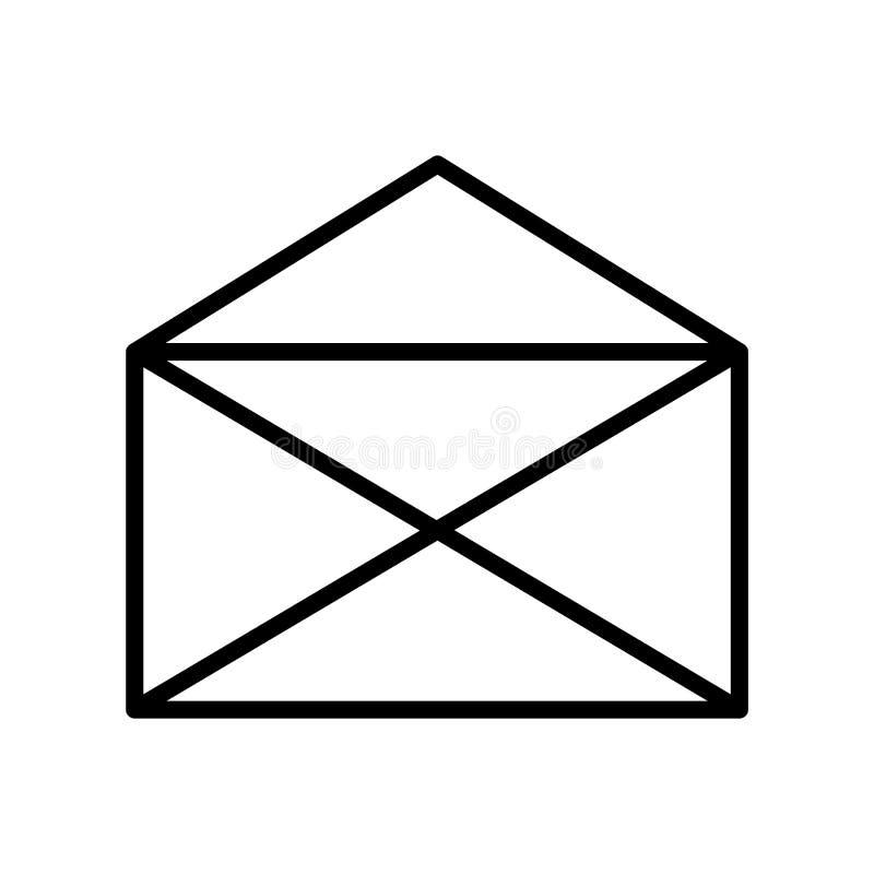 公开信读的电子邮件象在白色背景隔绝的传染媒介标志和标志,公开信读了电子邮件商标概念 向量例证