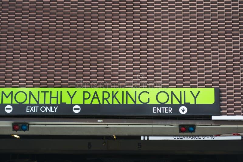 公开停车处入口在洛杉矶 免版税库存图片