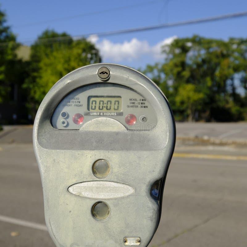 公开停车时间计时器 免版税图库摄影