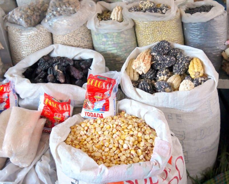 公开市场,库斯科, ess的秘鲁/9月2日2013/Two 库存图片