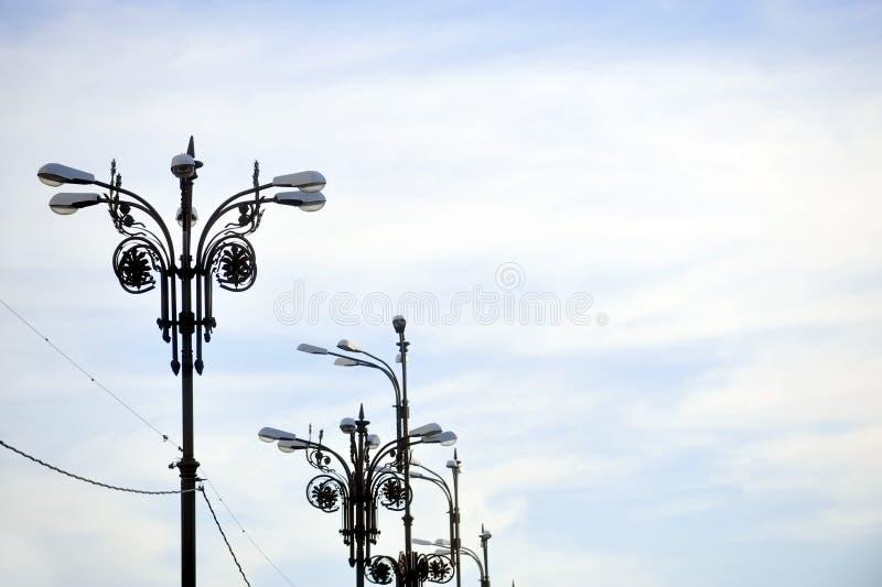 公开灯柱 免版税图库摄影