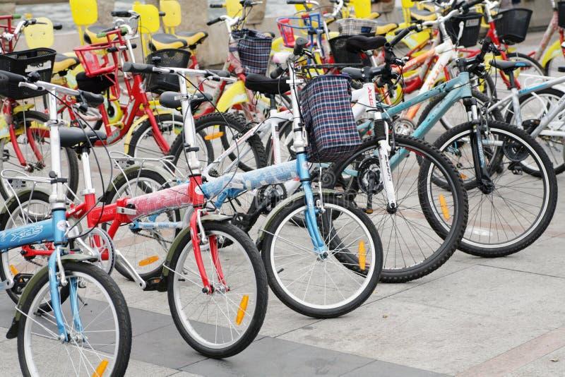 公开自行车租务 免版税库存照片