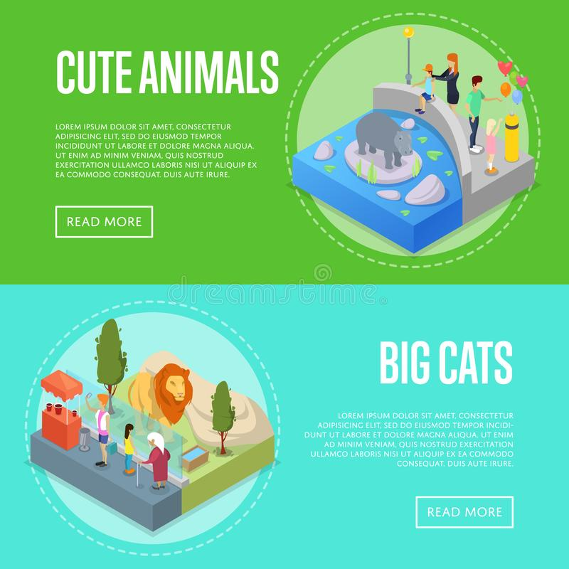 公开被设置的动物园等量3D海报 皇族释放例证