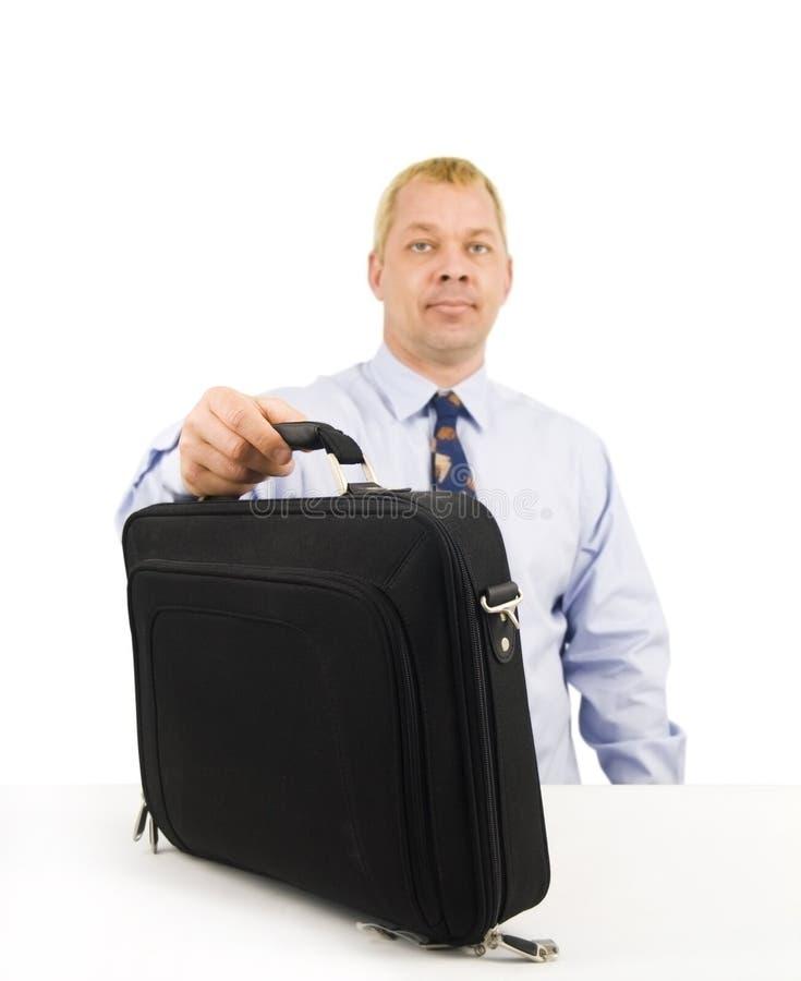 公文包商业下来供以人员设置 库存图片