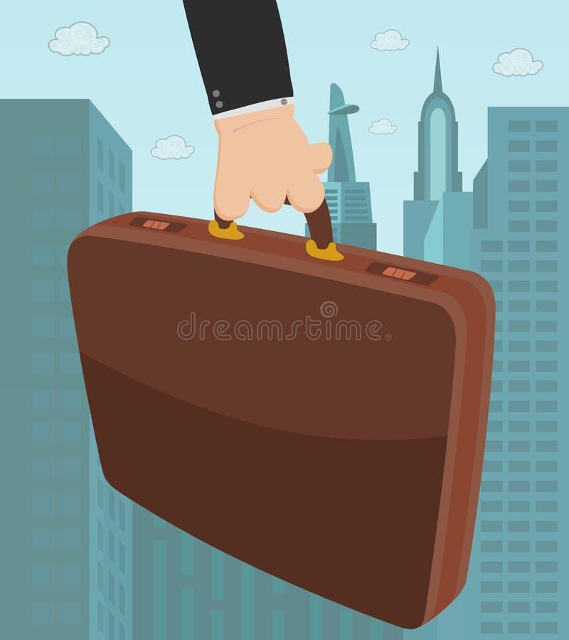 公文包在手上 向量例证