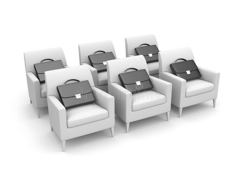 公文包椅子 向量例证