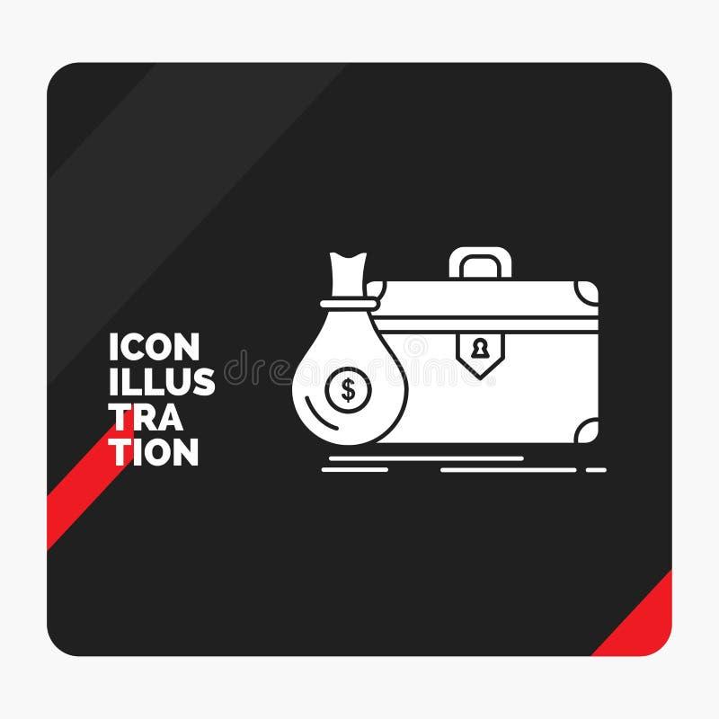 公文包的红色和黑创造性的介绍背景,事务,案件,开放,股份单纵的沟纹象 皇族释放例证