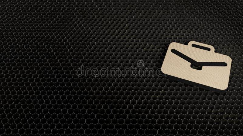 公文包象的木3d标志回报 库存例证