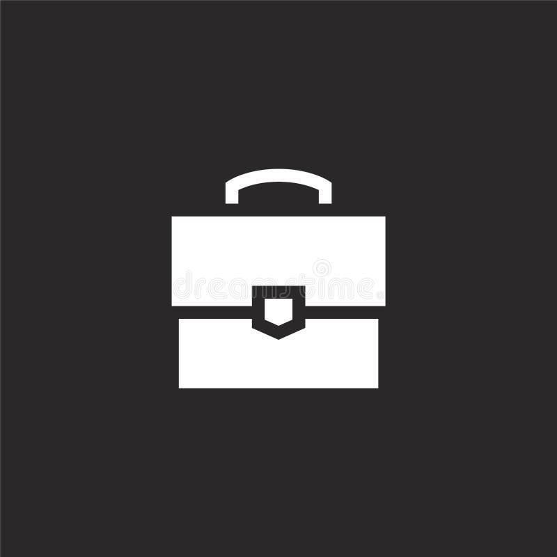 公文包象 网站设计和机动性的,应用程序发展被填装的公文包象 从被填装的管理的公文包象 库存例证