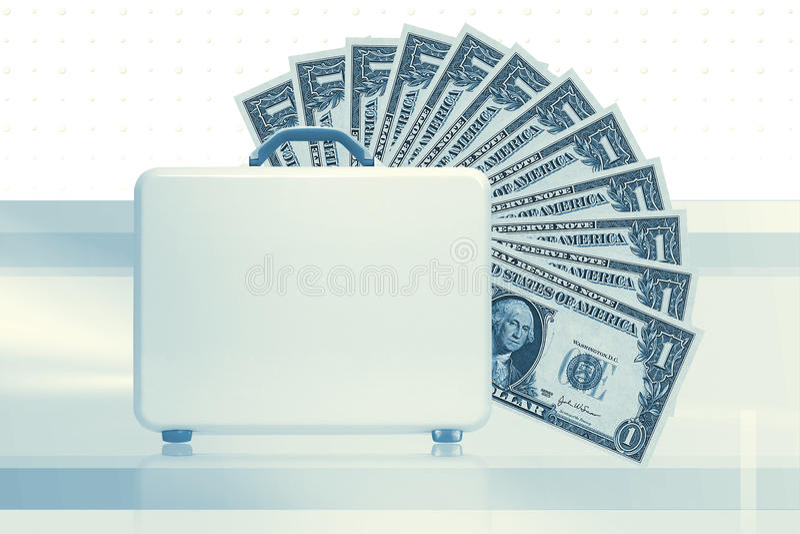 公文包货币 向量例证