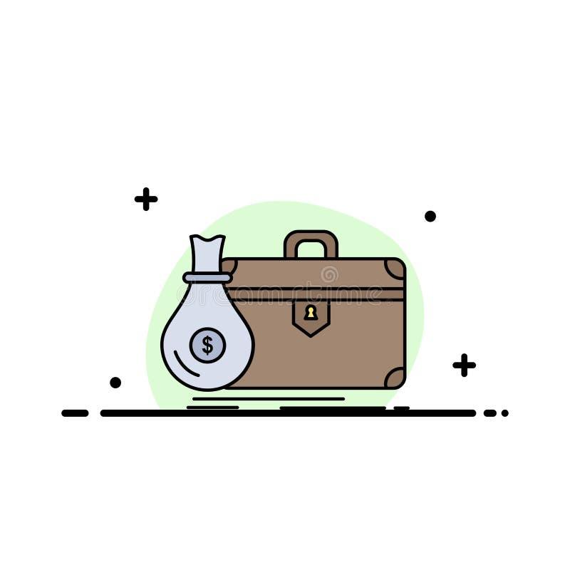 公文包,事务,案件,开放,股份单平的颜色象传染媒介 库存例证