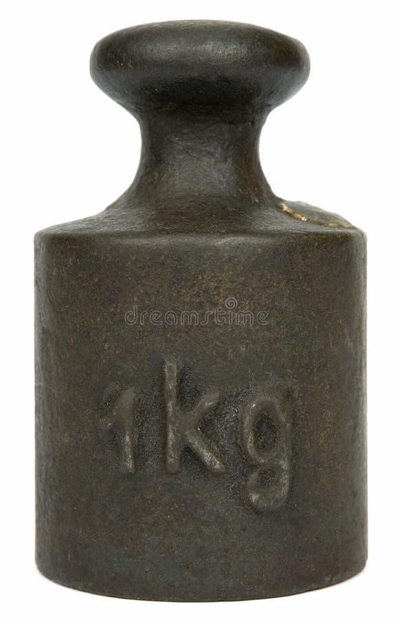 公斤一个重量 免版税库存照片