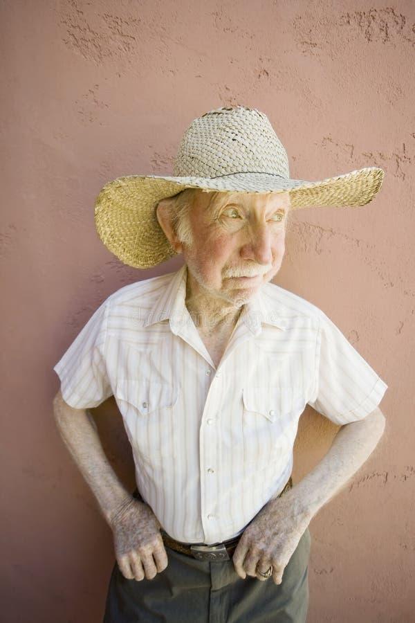 公民牛仔帽人前辈 库存照片
