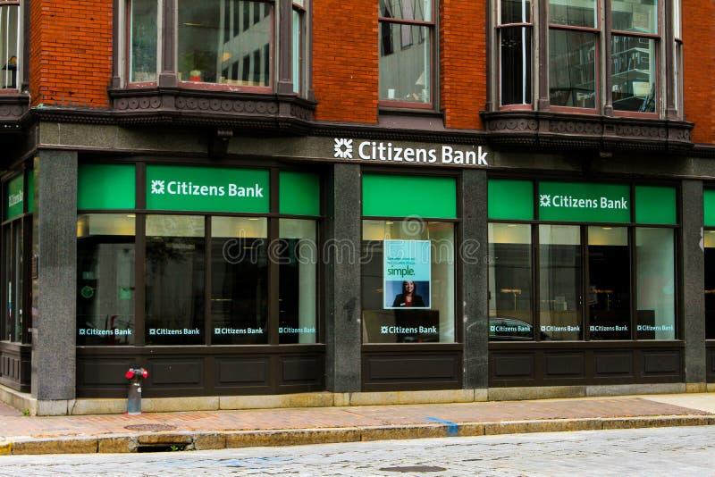 公民的银行,上帝, RI 免版税库存照片