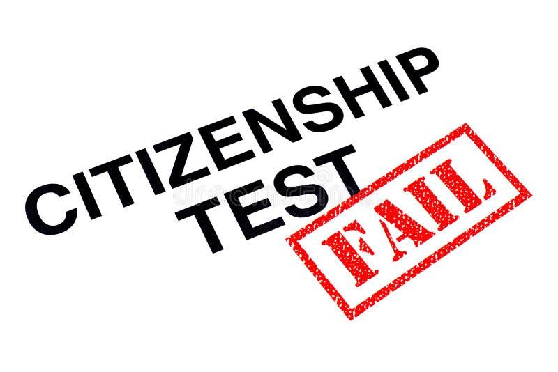 公民身份测试失败 向量例证