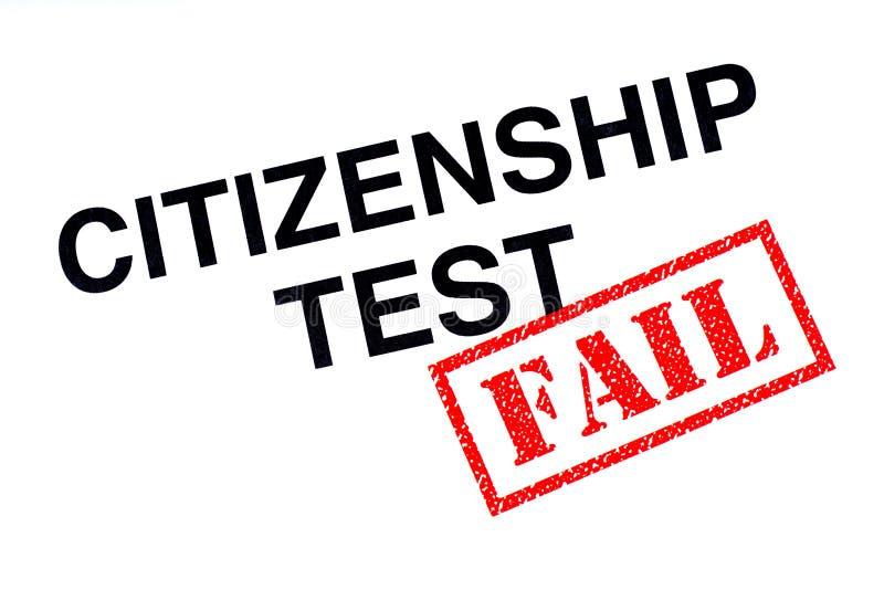 公民身份测试失败 库存例证