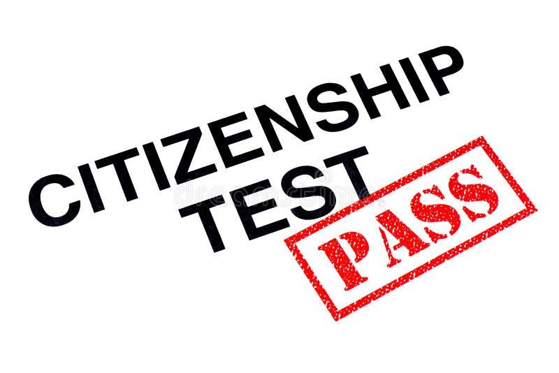 公民身份测试通行证 向量例证