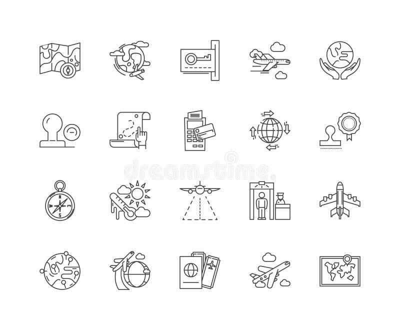 公民身份线象,标志,传染媒介集合,概述例证概念 向量例证
