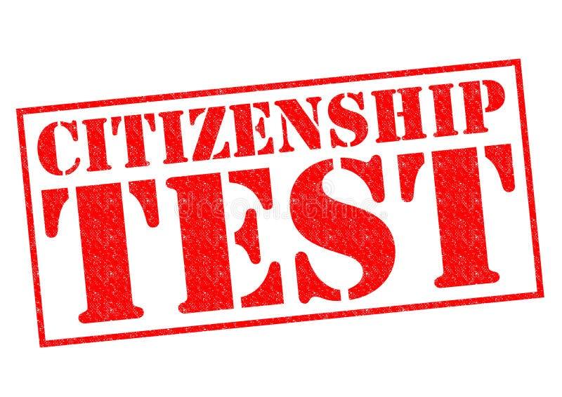 公民身份测试 库存例证