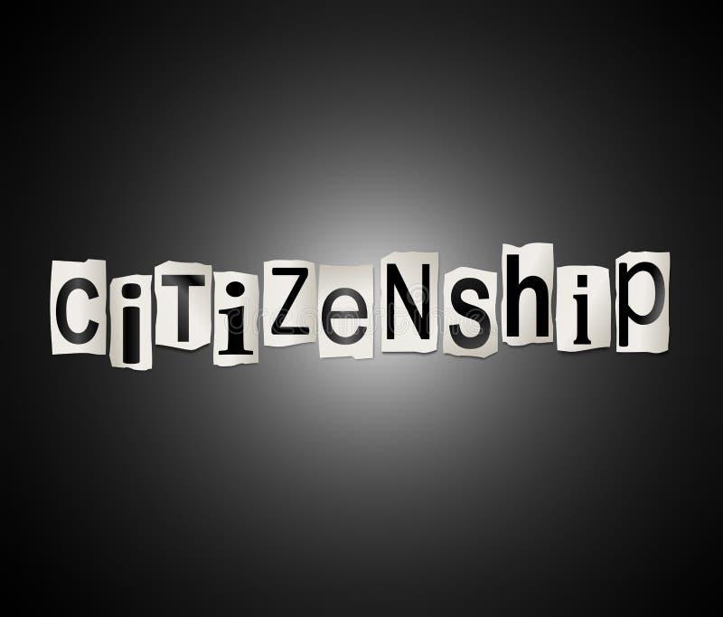 公民身份词概念 皇族释放例证