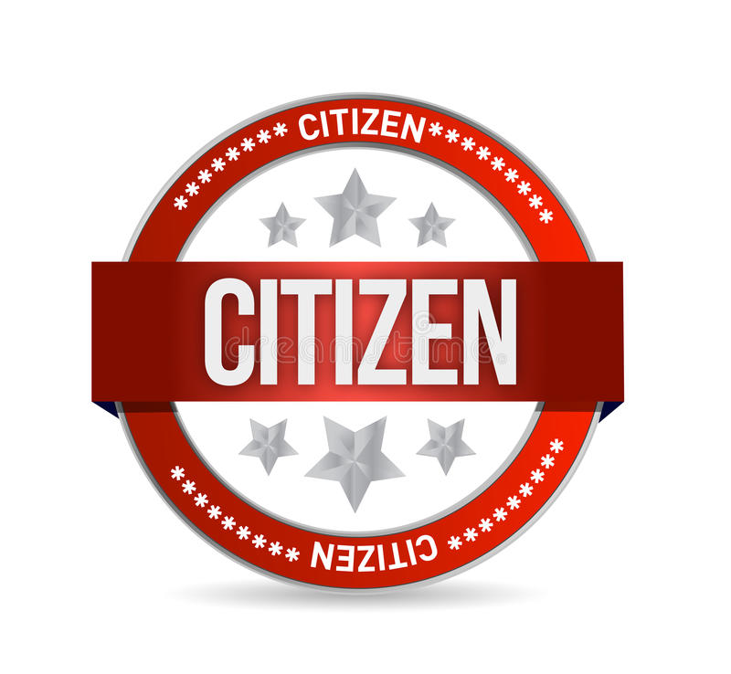 公民邮票封印例证设计 库存例证