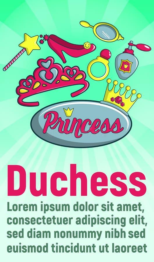 公爵夫人概念横幅,动画片样式 皇族释放例证