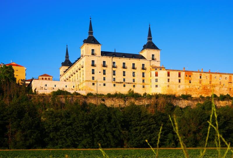 公爵的宫殿在莱尔马,布尔戈斯省  西班牙 免版税图库摄影