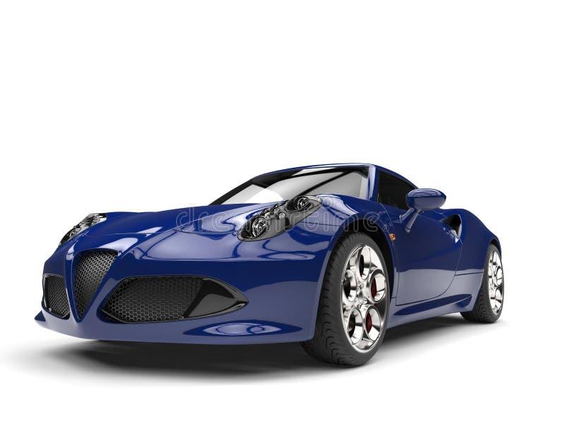 公爵蓝色现代跑车 向量例证