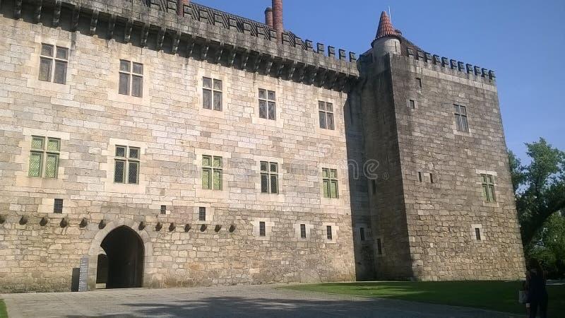 公爵GuimarA£ess的宫殿 图库摄影