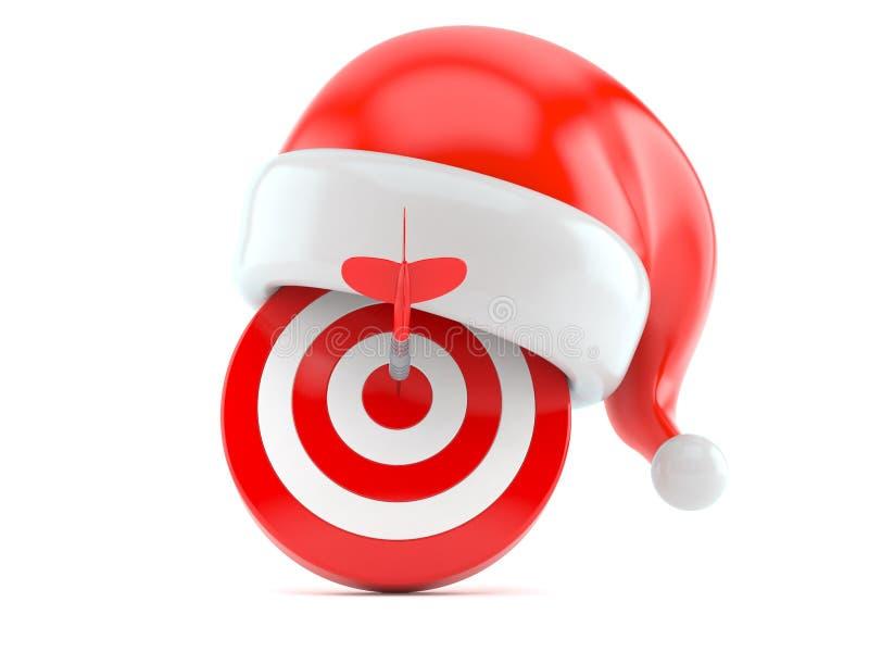 公牛与圣诞老人帽子的` s眼睛 库存例证