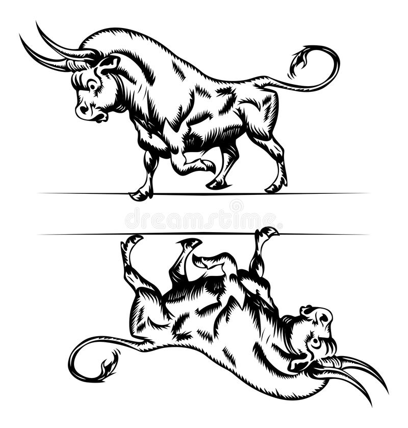 公牛图标 库存例证