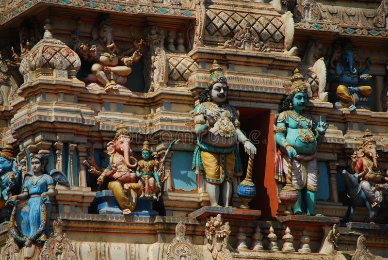 公牛寺庙详细资料,班格洛,印度 库存图片