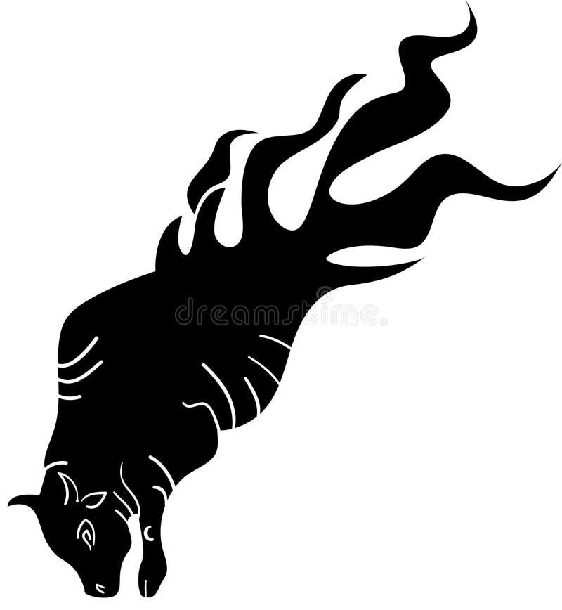公牛火 向量例证