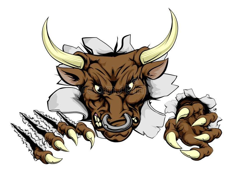 公牛爪断裂 向量例证