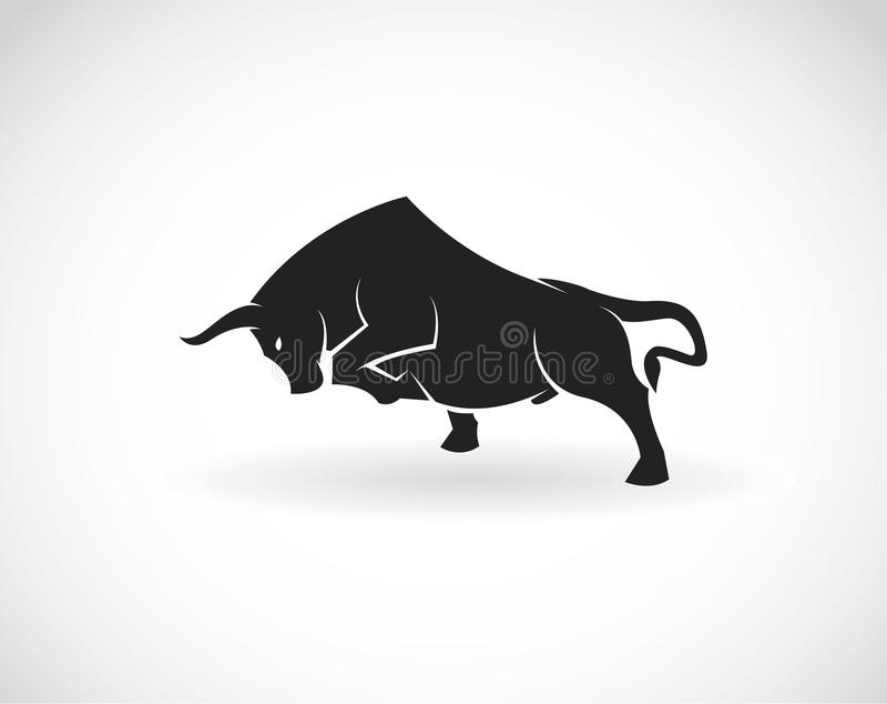 公牛的传染媒介图象 向量例证