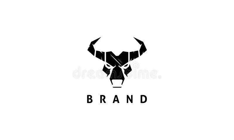 公牛的头的抽象图象 向量例证