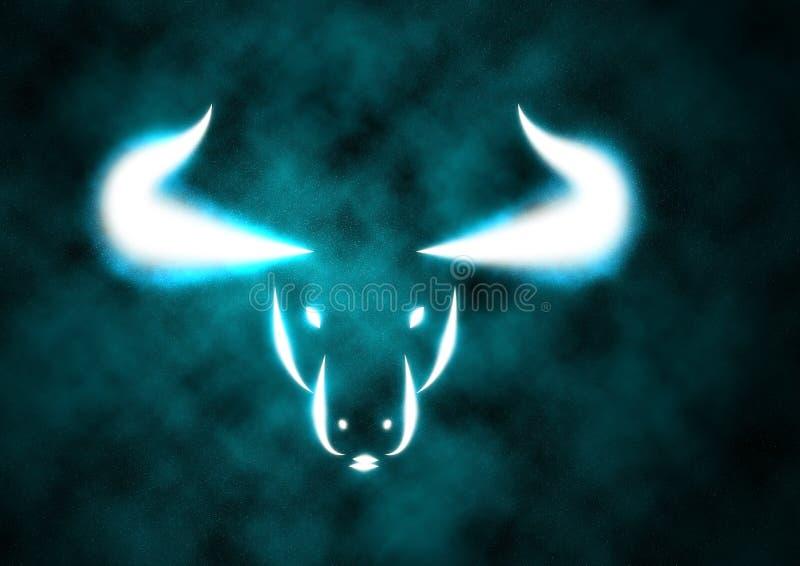 公牛符号黄道带 皇族释放例证
